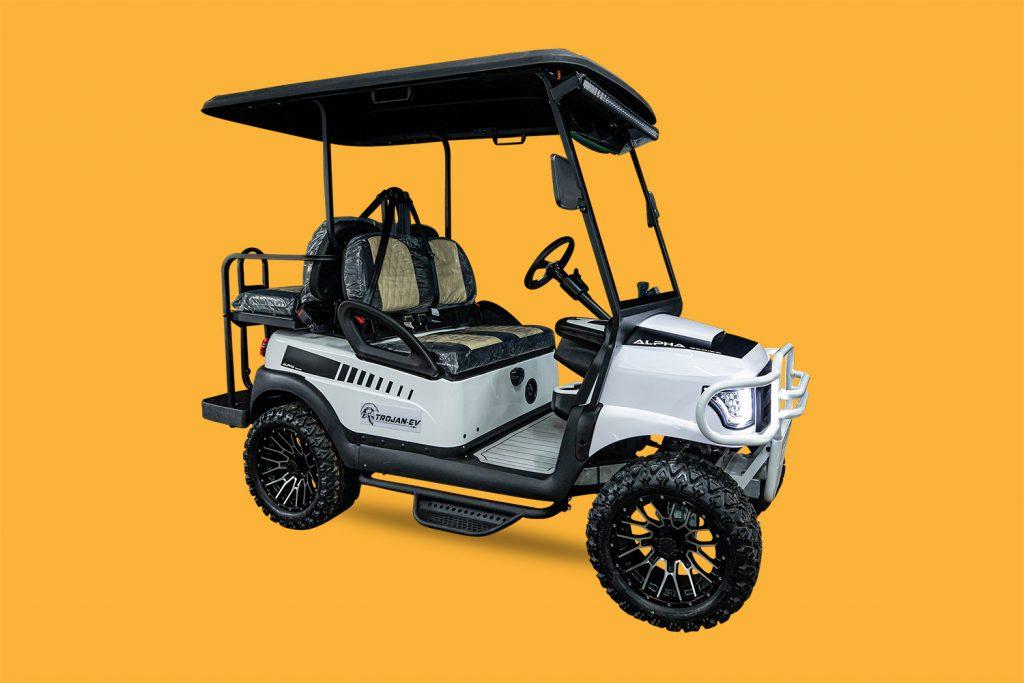 "Madjax White Alpha Body  |  Madjax 40"" LED Light Bar  |  Madjax MJFX Armor Nerf Bar  |  Doubletake Sentury Dashboard"